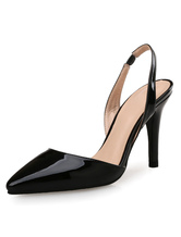 Tacchi alti nero Pointed Toe sandali tacco a spillo pompe donna