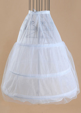 Short Wedding Petticoats White Taffeta A Line 1 Layer 3 Hoop Bridal Petticoats
