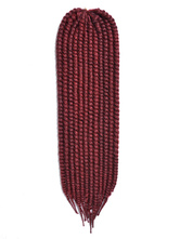 Anime Costumes AF-S2-667763 Rope Twist Braid Burgundy Havana Mambo Crochet Braid Hair Extensions