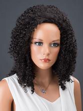 AF-S2-662551 Black Hair Wigs Women's Corkscrew Curls Synthetic Wigs