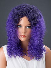 AF-S2-662555 Women's Hair Wigs Lavender Long Corkscrew Curls Synthetic Wigs
