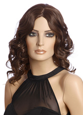 AF-S2-662839 Women's Hair Wigs African American Deep Brown Long Curly Synthetic Wigs