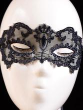 Women's Sexy Mask Lace Hallow Out Black Eye Patch