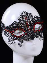 Sexy Lace Mask Beaded Women's Black Eye Patch