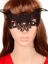 Sexy Lace Mask Women's Hallow Out Black Eye Patch
