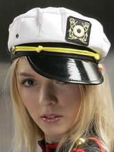 Anime Costumes AF-S2-667635 Sexy Sailor Costume White Canvas Sailor Hat For Women