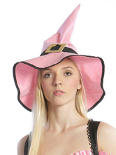 Anime Costumes AF-S2-663647 Halloween Witch Costume Accessories Women's Pink Witch Hat