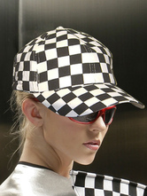Anime Costumes AF-S2-667643 Sexy Race Car Driver Costumes Black Checker Pattern Cap For Women