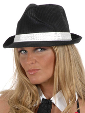 Anime Costumes AF-S2-667639 Black Trilby Hat Women's Viscose Hip Hop Cap