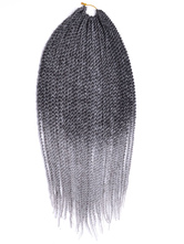 AF-S2-670575 Braid Hair Extensions Crochet Havana Mambo Twisted Light Gray Ombre Braiding Hair