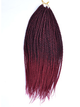 Anime Costumes AF-S2-670577 Rope Twist Braid Havana Mambo Crochet African American Dark Red Braid Hair Extensions