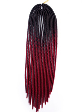 AF-S2-668467 Braid Hair Extensions Havana Mambo Twist Dark Red Ombre Synthetic Braiding Hair