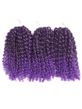 Anime Costumes AF-S2-668457 Braid Hair Extensions Curly Crochet Havana Mambo Water Wave Deep Purple African American Braiding Hair