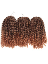 AF-S2-668453 Braid Hair Extensions Curly Crochet Havana Mambo Water Wave Deep Brown Ombre African American Braiding Hair