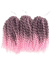 Anime Costumes AF-S2-668449 Braid Hair Extensions Crochet Havana Mambo Water Wave Blush Pink Ombre African American Braiding Hair