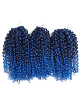 Anime Costumes AF-S2-668443 Braid Hair Extensions Havana Mambo Crochet Water Wave Deep Blue Ombre Synthetic Braiding Hair