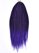 AF-S2-670579 Braid Hair Extensions Crochet Havana Mambo Deep Purple African American Braiding Hair