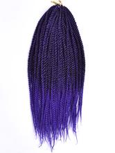 Anime Costumes AF-S2-670579 Braid Hair Extensions Crochet Havana Mambo Deep Purple African American Braiding Hair
