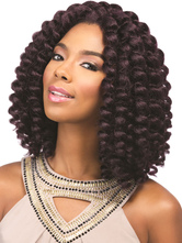 AF-S2-668359 African American Wigs Women's Black Curly Synthetic Hair Wigs