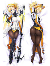 Anime Costumes AF-S2-666767 Overwatch Ow Mercy Kawaii Sexy Pillowcase 160cmX50cm