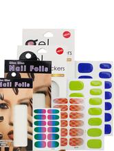 Наклейки для ногтей набор женщин мульти цвет бумаги ногтя фольги компактный