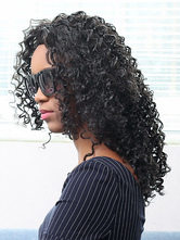 AF-S2-669813 Black Hair Wigs African American Tousled Curly Synthetic Wigs