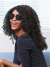 AF-S2-669935 Black Hair Wigs African American Tousled Curly Synthetic Wigs