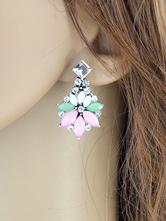 Mode Ohrring Ohrhänger mit Kristall im schicken & modischen Style Piercing Ohrringe Metall und Damen