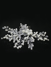 Comb Wedding Headpieces Pearls Branch Beaded Bridal Hair Accessories