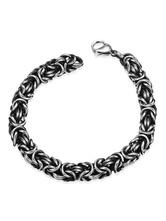 Silver Chain Bracelet Men's Punk Vintage Stainless Steel Link Bracelet