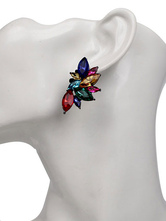 Women's Stud Earrings Rhinestones Detail Pierced Earrings