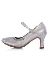 Zapatos de bailes latinos de PU de tacón gordo para baile de puntera redonda 2i21MEpa