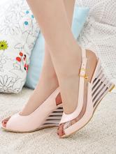 sexy Sandalen Sandalen für Sommer im schicken %26 modischen Style mit Metallic-Deko Arbeit für Damen
