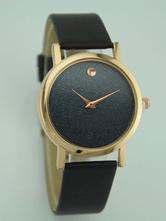 Montre à Quartz rond cadran en cuir Style Simple mode analogique bracelet féminin