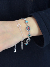 Women's Chic Bracelet Silver Simple Style Alloy Bracelet