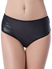 Sexy Club Shorts Black Cutout Eyelet Chain Tassel Lycra Spandex Pole Dancing Bottom For Women