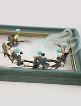Kopfschmuck Kunstblumen für Hochzeit in Hellblau für Erwachsenen