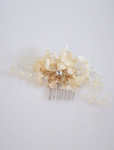 Comb Wedding Headpieces Ivory Silk Flowers Bridal Hair Accessories