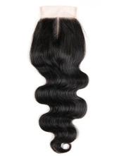 Capelli umani pizzo chiusura di capelli chiusura pezzo onda nera donne ricce