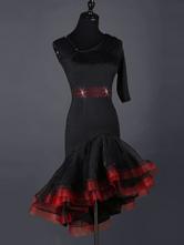 Vestido de Fantasia de dança de fibra poliéster chique & moderno de organza Dançarino de Latim com dois tons