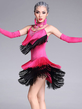Damenkleidung für Latein-Tanz aus mit Farbblock Polyester Modal im modischen Style