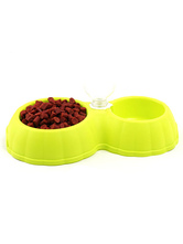 Pet Food Bowl Dog Cat Automatic Water Dispenser Plastic Double Bowl Dish Drinking Feeder