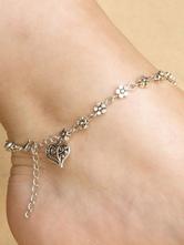 Bracelet Cheville Charme Chaussures Argent Pendentif Sweetheart Bracelets Femme Femme