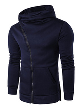 Grey Zip Hoodie Men's Long Sleeve Hooded Sweatshirt