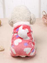 Dog Onesie Pajamas Heart Print Dog Jumpsuit Pet Clothes Halloween