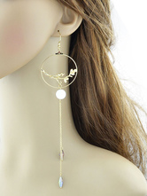 Gold Dangle Earrings Chic Metal Detail Cut Out Statement Earrings