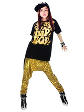 Sequined Dance Costumes Women's Printed T Shirt With Harem Pants