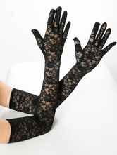 Lace Long Gloves Sexy Sheer