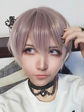 Perucas Lolita Curtas Harajuku Amber Straight Synthetic Hair Wigs