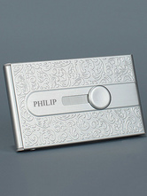 Personalized Card Holder Silver Wedding Favor